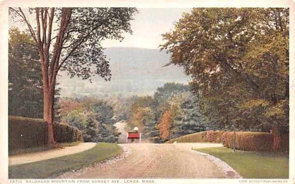 Baldhead Mountain Lenox, Massachusetts Postcard
