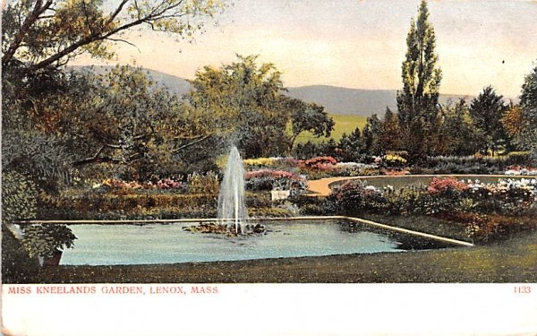 Miss Kneelands GardenLenox, Massachusetts Postcard