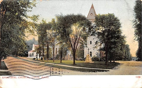 Episcopal ChLenox, Massachusetts Postcard