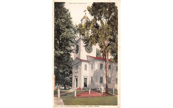 Old Congregational ChurchLenox, Massachusetts Postcard