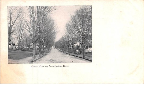 Grove AvenueLeominster, Massachusetts Postcard