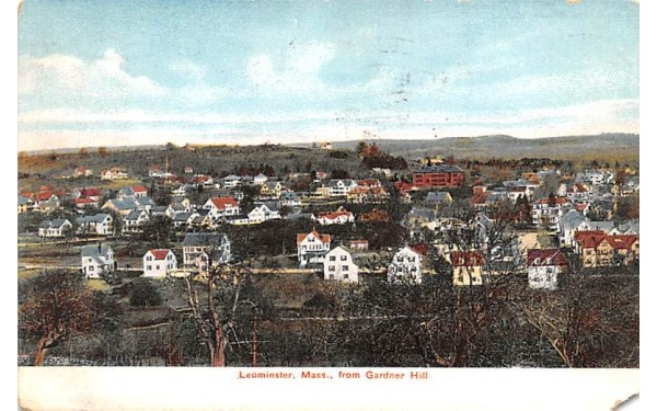 View form Gardner HillLeominster, Massachusetts Postcard