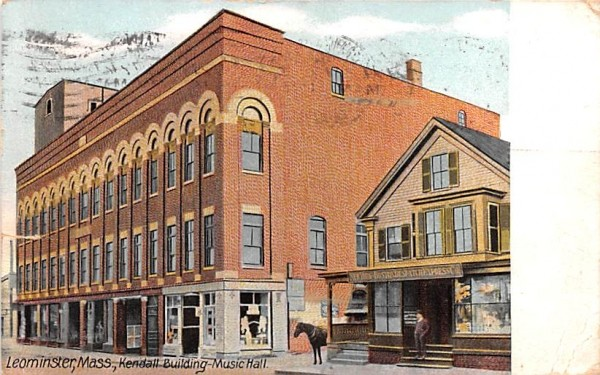 Kendall Building Music HallLeominster, Massachusetts Postcard