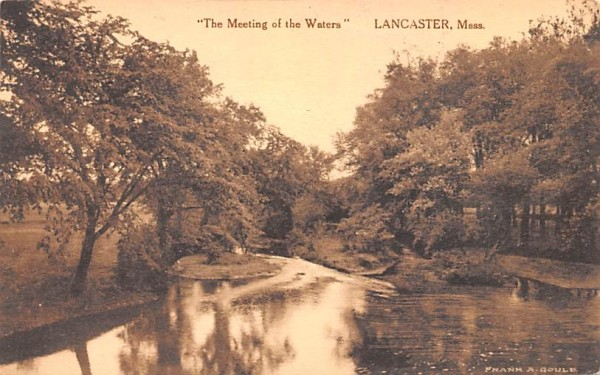 The Meeting of the Waters - Lancaster, Massachusetts MA Postcard