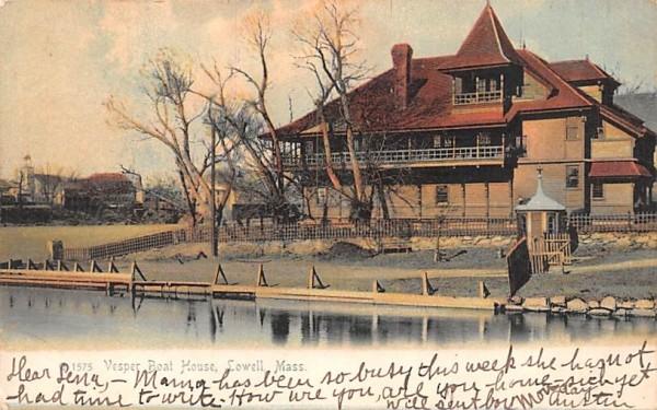 Vesper Boat HouseLowell, Massachusetts Postcard