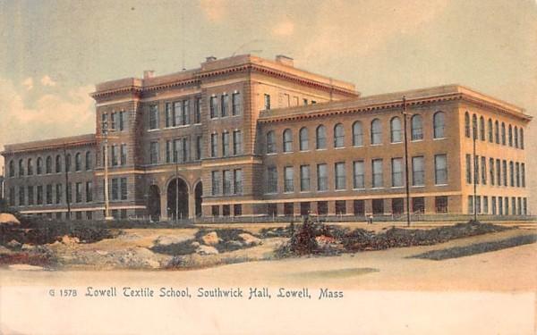 Lowell Textile School Massachusetts Postcard
