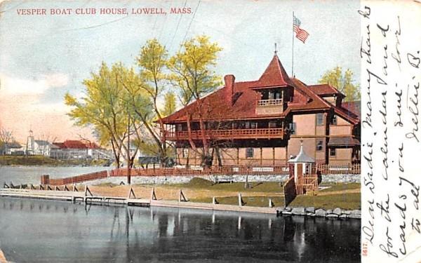 Vesper Boat Club HouseLowell, Massachusetts Postcard