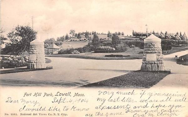 Fort Hill ParkLowell, Massachusetts Postcard
