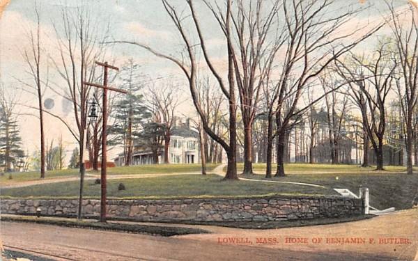 Home of Benjamin F. ButlerLowell, Massachusetts Postcard