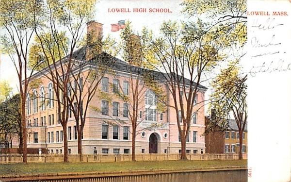 Lowell High School Massachusetts Postcard