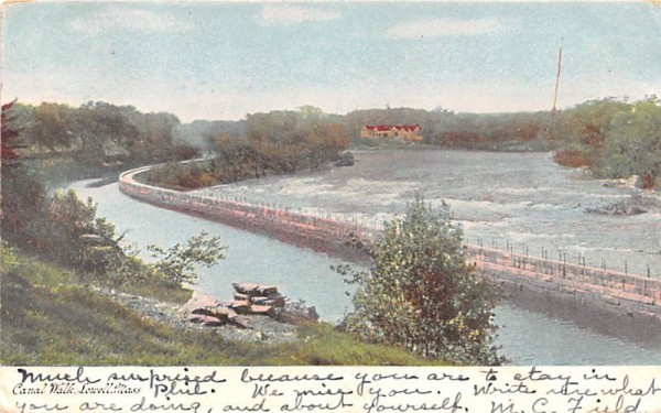 Canal WalkLowell, Massachusetts Postcard