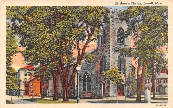 St. Anne's ChurchLowell, Massachusetts Postcard