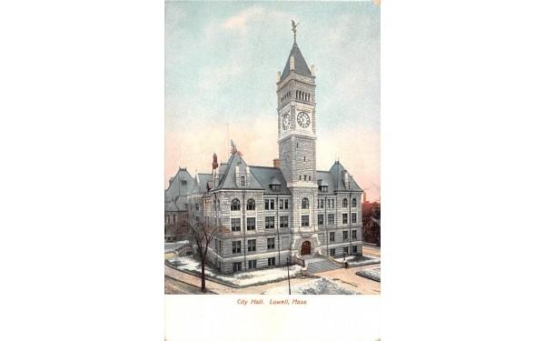 City HallLowell, Massachusetts Postcard