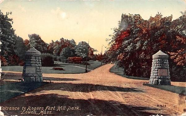 Rogers Fort Hill ParkLowell, Massachusetts Postcard