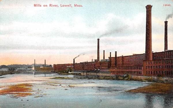 Mills on RiverLowell, Massachusetts Postcard