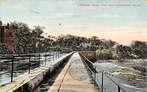The Walk Pawtucket FallsLowell, Massachusetts Postcard