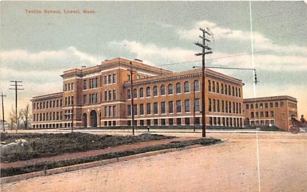 Textile SchoolLowell, Massachusetts Postcard