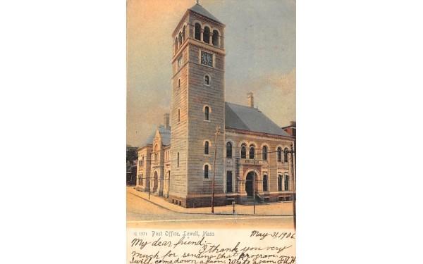 Post OfficeLowell, Massachusetts Postcard