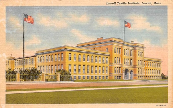 Lowell Textile Institute Massachusetts Postcard