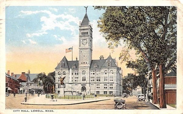 City Hall Lowell, Massachusetts Postcard