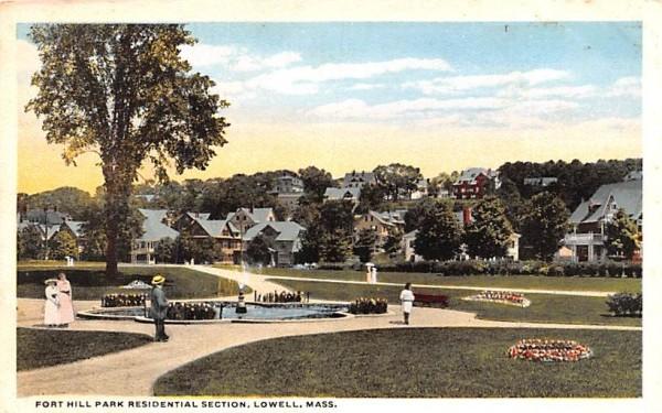 Fort Hill Park Residential Section Lowell, Massachusetts Postcard