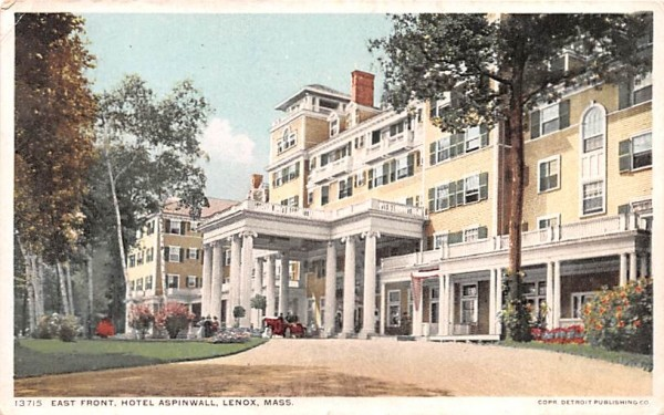 East Front Lenox, Massachusetts Postcard