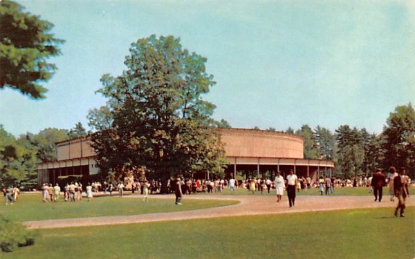 Beautiful grounds at Tanglewood Lenox, Massachusetts Postcard