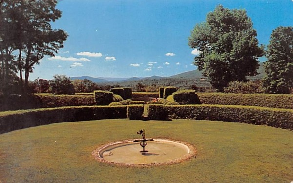 Formal Gardens at Tanglewood Lenox, Massachusetts Postcard
