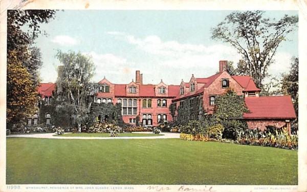 Wyndhurst Lenox, Massachusetts Postcard