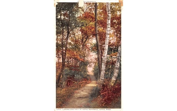 A Woodland Path at Hotel Aspinwall Lenox, Massachusetts Postcard