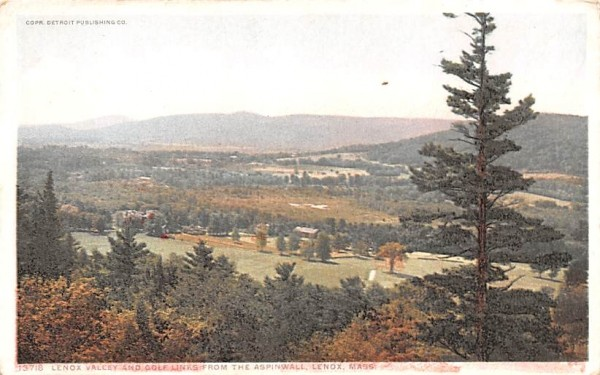 Lenox Valley & Golf Links Massachusetts Postcard