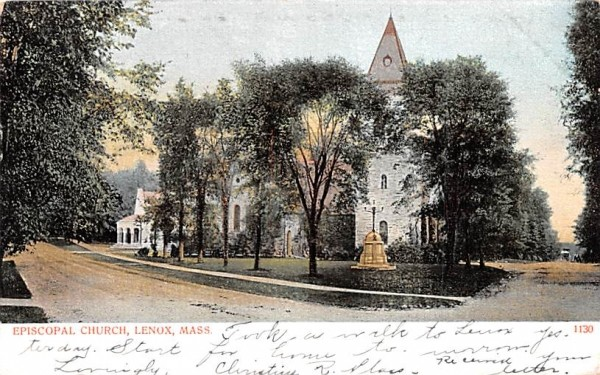 Episcopal Church Lenox, Massachusetts Postcard