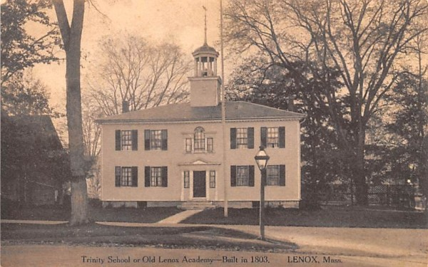 Trinity School or Old Lenox Academy Massachusetts Postcard