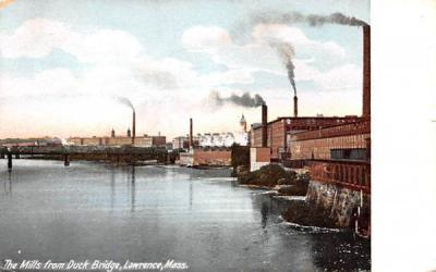 The Mills from Duck BridgeLawrence, Massachusetts Postcard