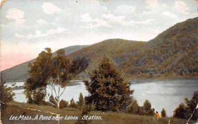 A Pond near LenoxLee, Massachusetts Postcard
