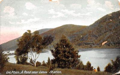 A Pond near Lenox StationLee, Massachusetts Postcard
