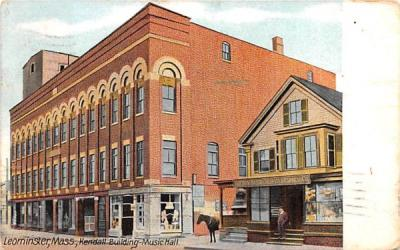 Kendall Building Music HallLeominster, Massachusetts Postcard