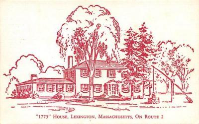 1775 House - Lexington, Massachusetts MA Postcard