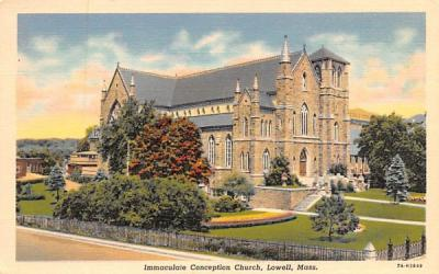 Immaculate Conception ChurchLowell, Massachusetts Postcard
