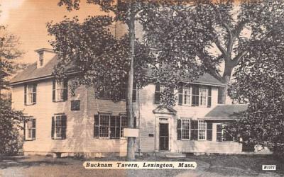 Bucknam Tavern Lexington, Massachusetts Postcard