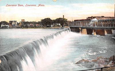 Lawrence Dam Massachusetts Postcard