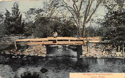Bridge at Howletts Mill Lynn, Massachusetts Postcard