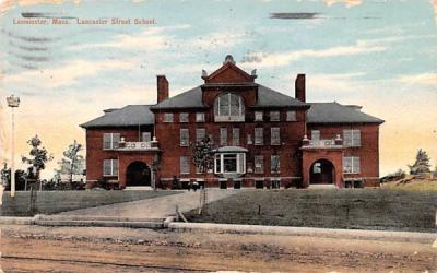 Lancaster Street School Leominster, Massachusetts Postcard
