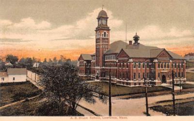 A.B. Bruce School Lawrence, Massachusetts Postcard