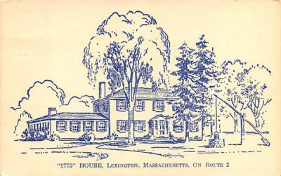 1775 House Lexington, Massachusetts Postcard