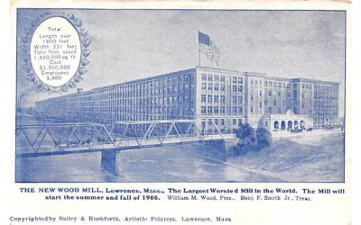 The New  Lawrence, Massachusetts Postcard