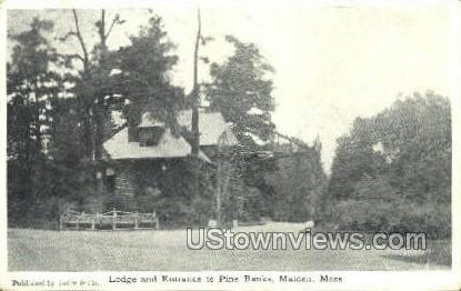 Lodge & Entrance to Pine Banks - Malden, Massachusetts MA Postcard