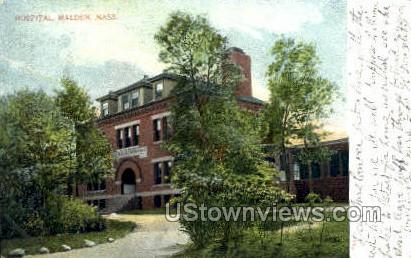 Hospital - Malden, Massachusetts MA Postcard