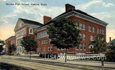Malden High School - Massachusetts MA Postcard