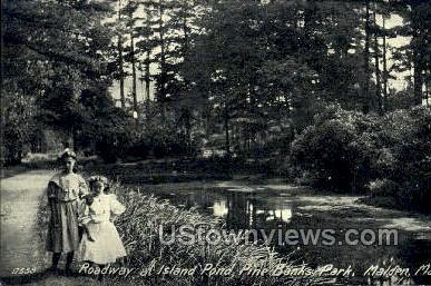 Pine Banks Park - Malden, Massachusetts MA Postcard